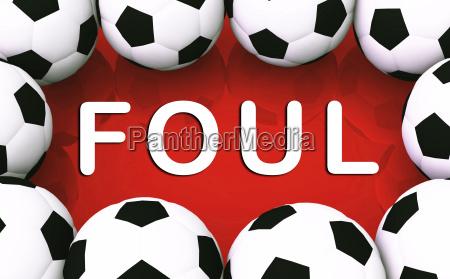 soccer concept foul