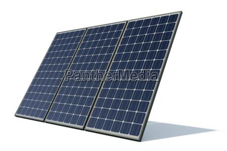 solarmodule vor weissem hintergrund