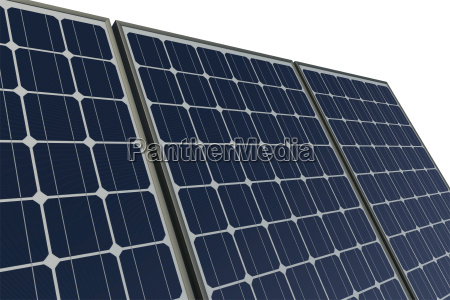 solar panels against a white background