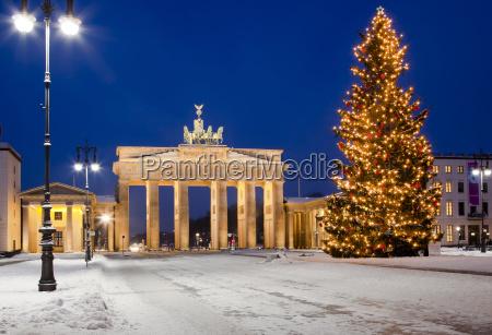 christmas tree at brandenburg gate