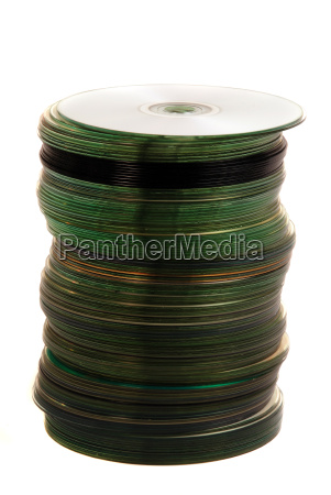 stapel dvd cd compact disc silberscheibe