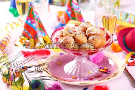 karnevals und fest gedeck