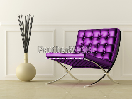 violett ledersitz