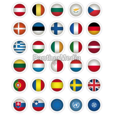 symbole flaggen von allen mitgliedstaaten der