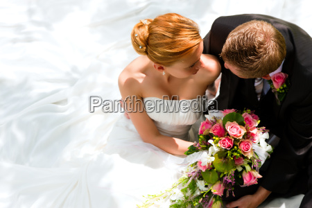 couple at wedding bride and
