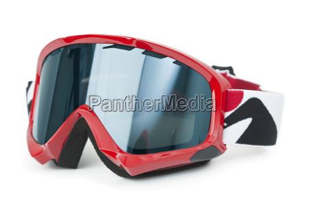 skibrille isoliert auf weiss