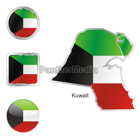 kuwait karte und internet buttons