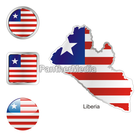 afrika illustration fahne flagge knopf button