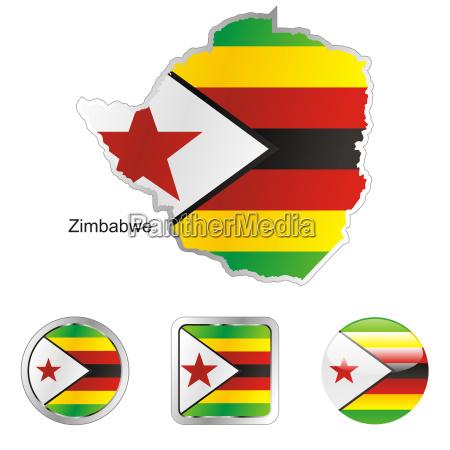 zimbabwe karte und internet tasten
