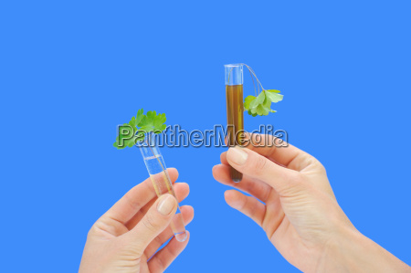 clean and dirty water samples with