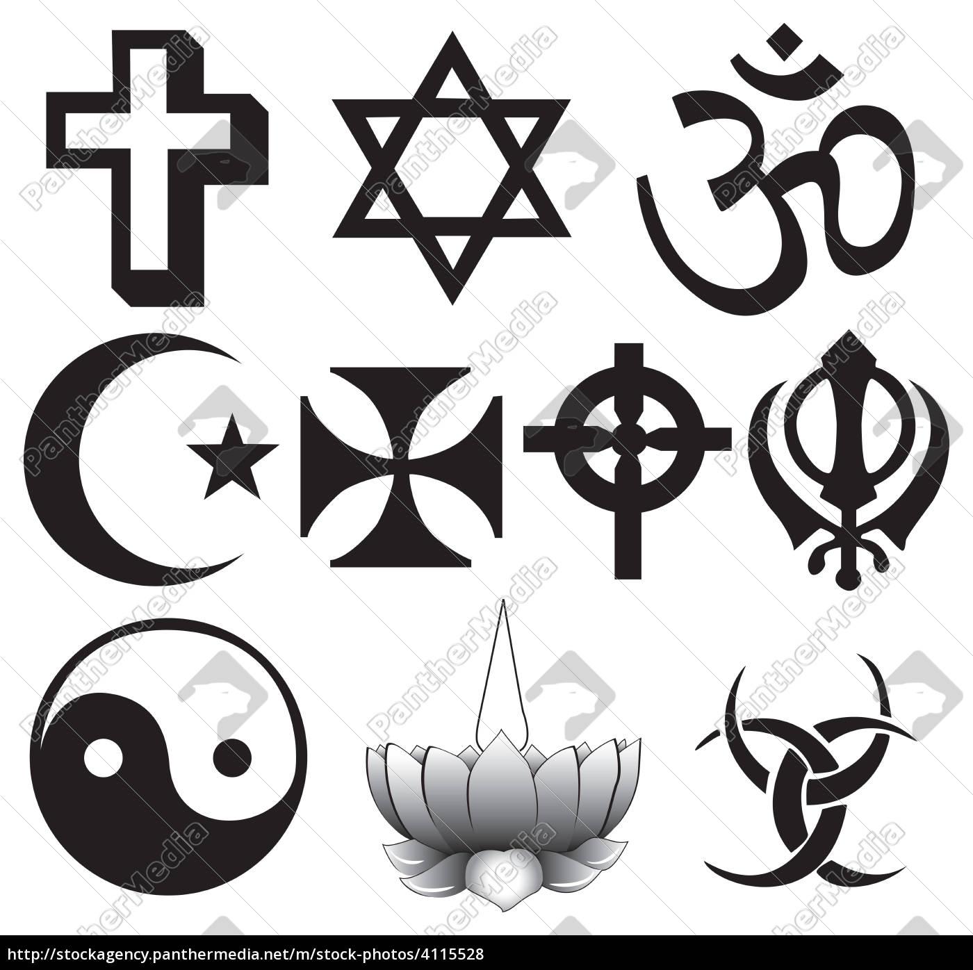 verschiedene religionen symbole - Lizenzfreies Foto - #4115528 ...