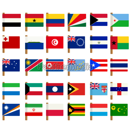 world flag icons set 4