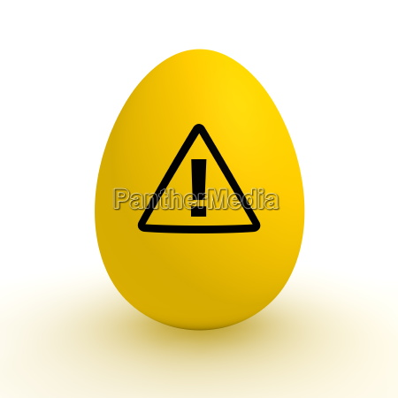 yellow egg polluted food