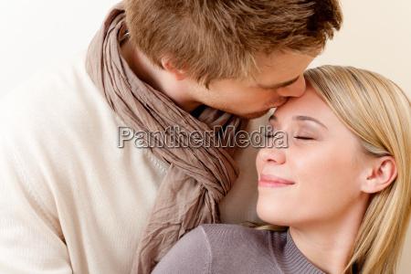 couple in love romantic kiss