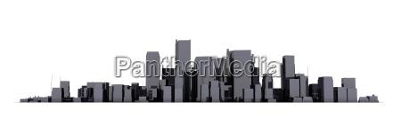 breites stadtbild modell 3d shiny