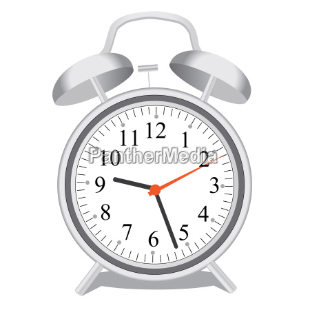 image of an alarm clock isolated