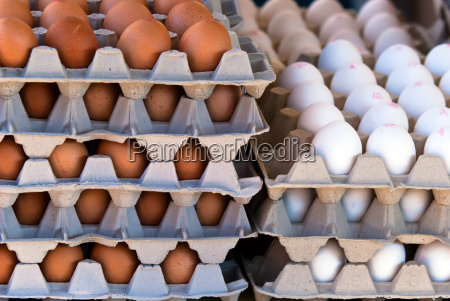 stacked many eggs stairs