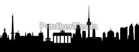 berlin silhouette abstrakt