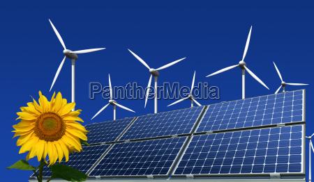monocrystalline solar panels wind turbines and