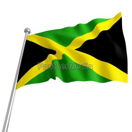 3d modell jamaika flagge auf weissem