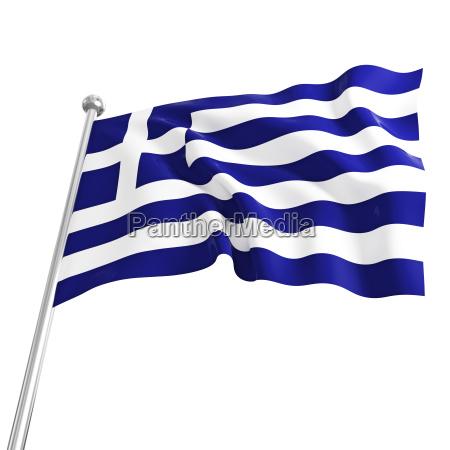 3d modell der griechischen flagge auf