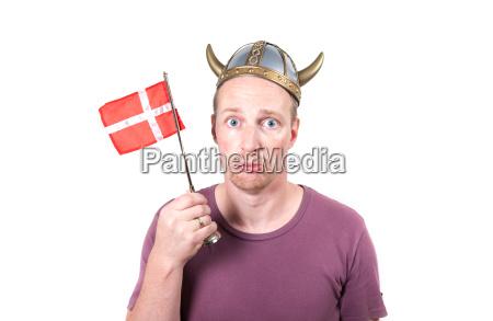 viking man isolated helmet