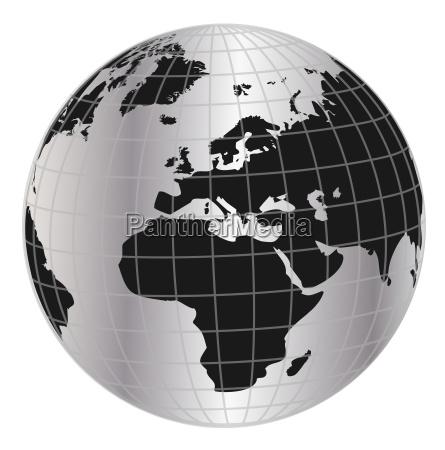 globus afrika europa