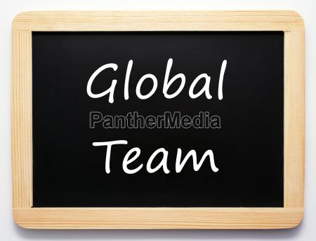 global team concept sign