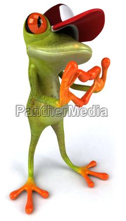 lustige frosch