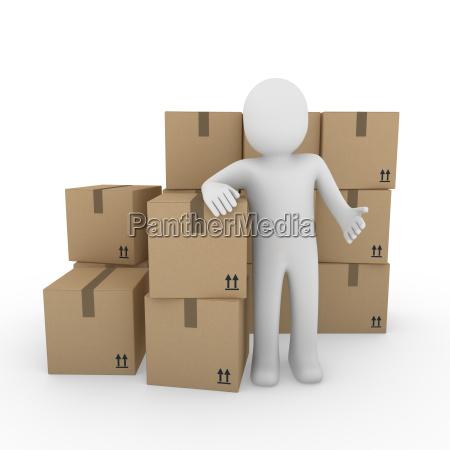 3d human versandverpackung