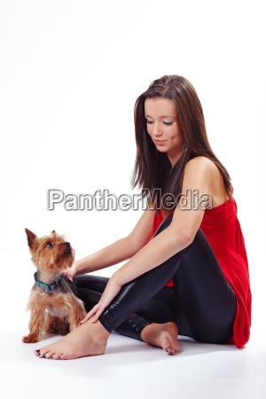 maedchen mit dem hund