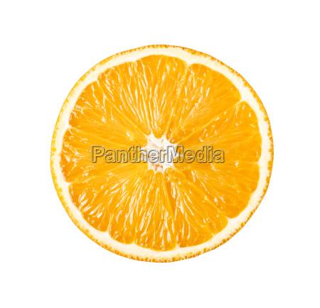 perfect slice of orange isolated on