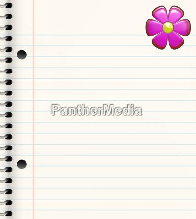 book wiht flower