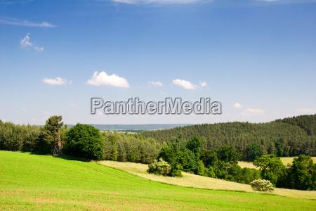 summer landscape in thuringia saale holzland