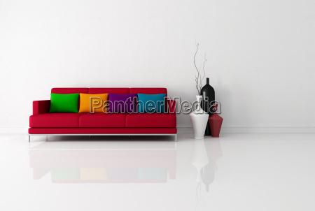 brigh minimalistischen wohnzimmer