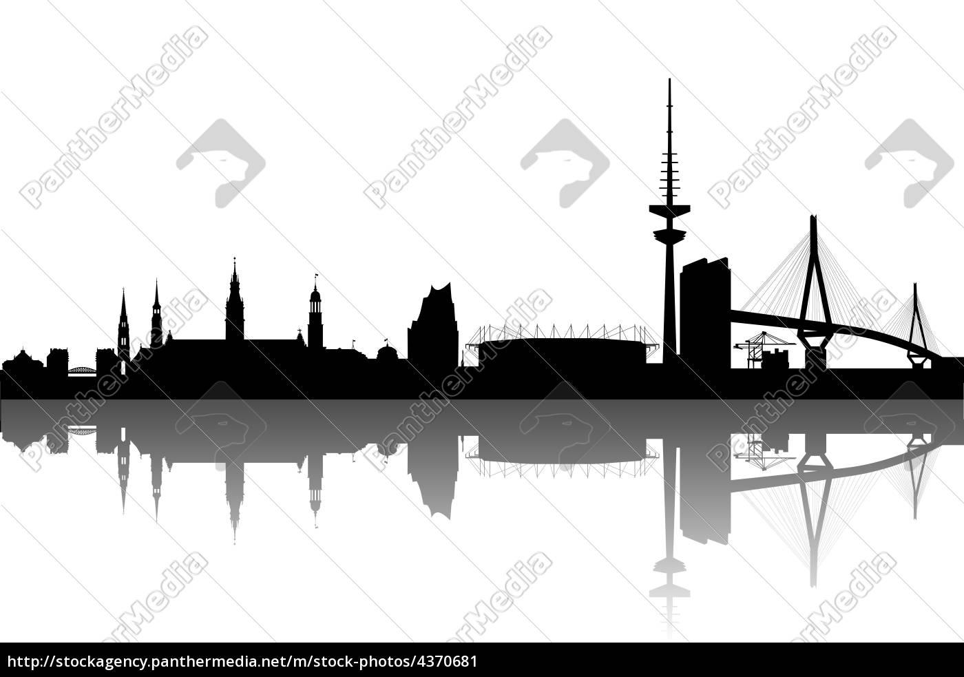 hamburg silhouette abstrakt lizenzfreies bild 4370681. Black Bedroom Furniture Sets. Home Design Ideas