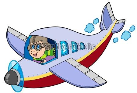 cartoon flieger