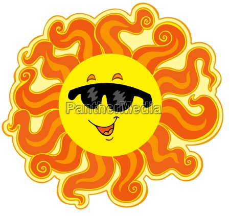 curly cartoon sun