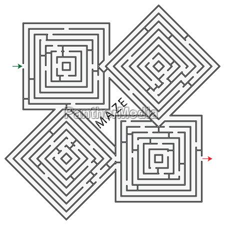 quadrate labyrinth