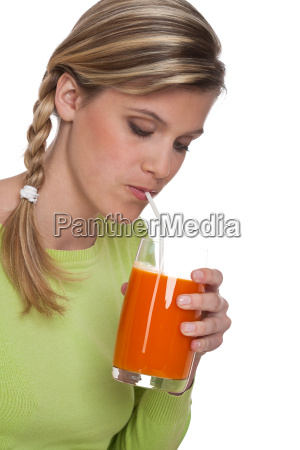 healthy lifestyle series woman drinking