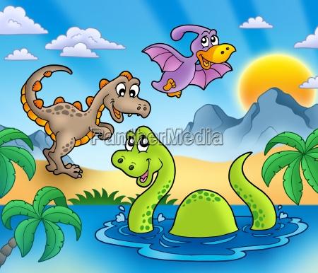 landschaft mit dinosaurier 1