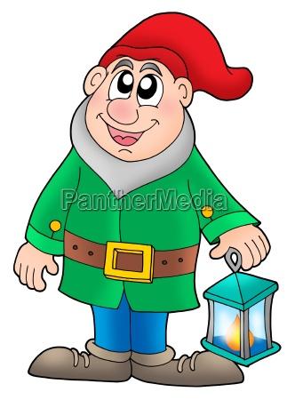 dwarf with lantern