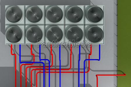 geothermieanlage von oben