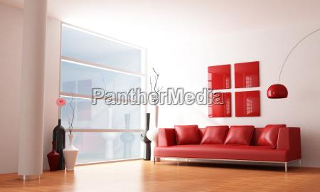 minimalistischen wohnzimmer