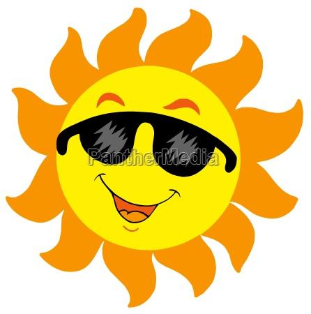 cartoon sun mit sonnenbrille