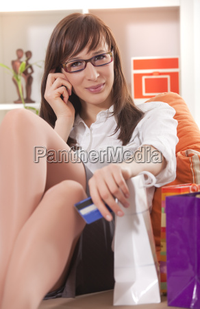 home shopping on phone