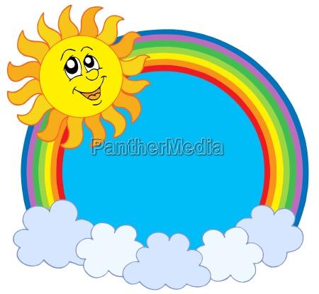 wolke heiss regenbogen witterung prisma einzelbild