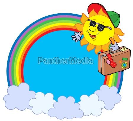 fahrt reisen sonnenlicht regenbogen sonnenschein kreis