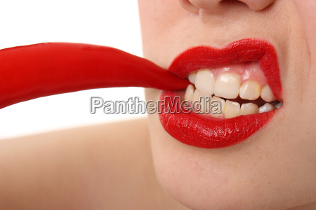 mouth with chilli