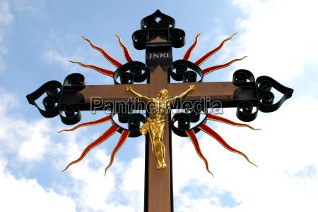 golden jesus christ figure on a